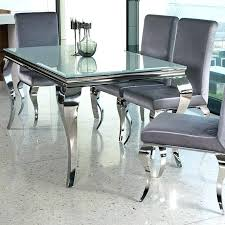 glass and chrome dining table extendable dining room tables and chairs magnificent 6 extending glass dining