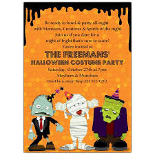 Spooky Creatures Costume Party Invitations Paperstyle