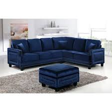 trim sofa leather with sectional couch reclining nailhead