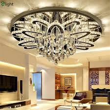 remote control chandelier modern led re stainless chrome ceiling luxury foyer outdoor