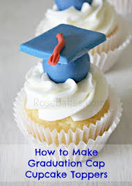 How To Make Graduation Cap Cupcake Toppers Tutorial Rose Bakes