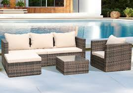 5pcs outdoor furniture sofa set rattan