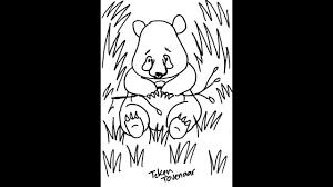 Kleurplaat Panda Beer Leren Tekenen En Gratis Downloaden Youtube