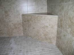 corner shower bench intended for tiled seat made from cement mortar tile your world decor 2