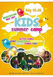 Summer Camp Brochure Template Free Download Summer Camp Brochure