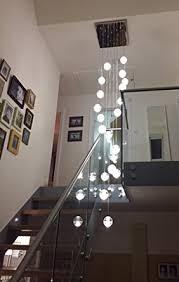 modern stairwell lighting. Modern Stairwell Lighting. Contemporary Lighting Phube Led Meteor Shower Chandelier Light Fixtures