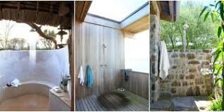 Stylized Outdoor Showers Ideas Rinse Shower