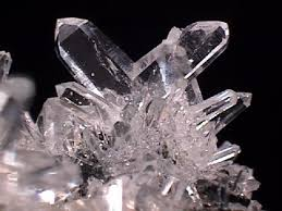 rock crystal the clear and colorless variety of quartz