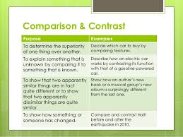 comparison contrast essay comparison