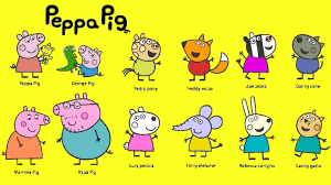 Learn Colours With Peppa Pig And Friends Colouring Page Youtube