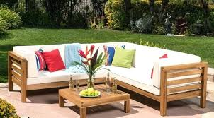 comfortable patio furniture most best of outdoor 4 piece acacia wood sectional sofa australia p
