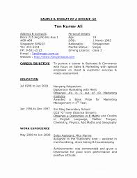 Making Resume Format Format Of Making A Resume Best Of Good Resume Sample Singapore 13