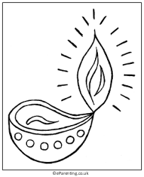 Small Picture Diwali Colouring Pages Diwali Diwali diya and Free printable
