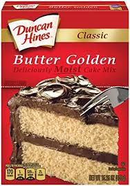 Duncan Hines Classic Cake Mix Butter Golden 1525 Ounce Pack Of