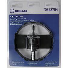 kobalt 4 3 8 in carbide grit arbored recessed lighting hole saw