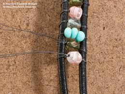 multi wrap leather bead bracelet instructions