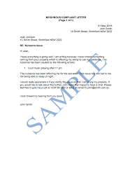Letters Of Complaints Samples Neighbour Complaint Letter Free Template Sample Lawpath