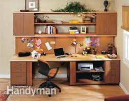 build a home office. finished office center build a home
