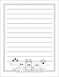 Preschool Writing Paper Template