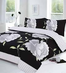 roen black white quilt cover