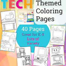 Even if your child falls into a normal emotional health range, still coloring can help the child to process their frustrated feelings and emotions from a profound habit of coloring pages. Technology Themed Coloring Pages Technology Curriculum