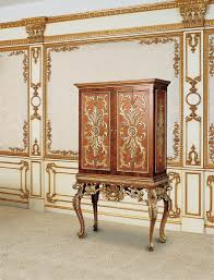 furniture motifs. Shells And Wave-like Motifs Can Be Found On Antique Furniture Of The Rococo Period Such As Armoires, Tables Chairs. T