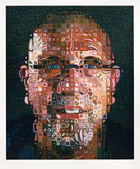 self portrait screenprint 2016 chuck close