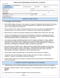 sample employee evaluations performance appraisal letter format doc best of employee feedbackrm
