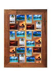 recycled timber frame with 24 photo openings