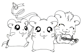 Small Picture Happy Hamsters Coloring Page Animal pages of KidsColoringPage