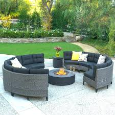 circular outdoor sectional curved cushions fire pit sofa set now