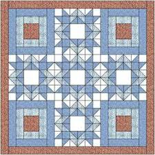The diamond star quilt block makes a lovely quilt when paired with ... & The diamond star quilt block makes a lovely quilt when paired with a  courthouse steps block Adamdwight.com