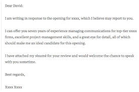 Example Cover Leter Short Cover Letter Example 7 Cover Letter Examples That Got