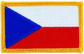 La bandiera nazionale della repubblica ceca ( ceco : Toppa Ricamata A Forma Di Bandiera Della Repubblica Ceca Amazon It Auto E Moto