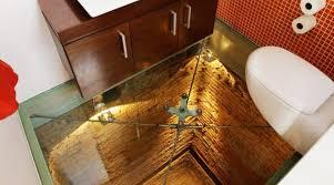 glass floor tiles. Structural Glass Floor In Bathroom With View Underneath Tiles