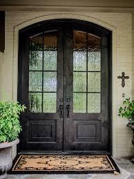 double front door. Amazing Home With Double Front Doors : Dark Traditional Framed Creamy Brick Door