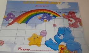 Personalised A4 Laminated Care Bears Reward Chart With Stickers