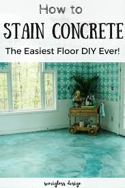 learn how to stain your concrete floor with kemiko acid stain