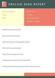Free Book Report Template Reports For Middle School Nonfiction Ideas ...