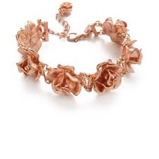 tuleste market rosette bracelet 98 liked on polyvore featuring jewelry bracelets rose gold tuleste market tuleste market jewelry polish jewelry