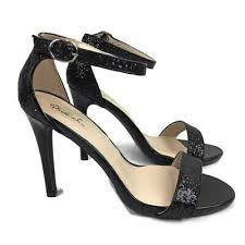 Qupid Womens Black Strappy Wedge Platform Sandals Us Size 8