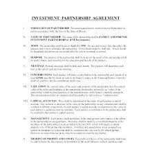 Investment Agreement Templates Here Is A Free Investment Contract Template For You Agreement Joint