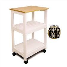catskill microwave utility butcher block kitchen cart in white 81515 catskill craftsmen