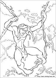 Small Picture Tarzan coloring picture Coloring for kid Pinterest Tarzan