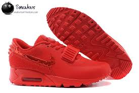 nike running shoes 2016 red. fast shipping 2016 nike air max 90 air yeezy 2 sp mens running shoes all red