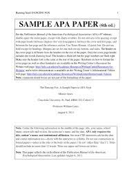 Apa Sample Paper 6th Edition Citation Ellipsis