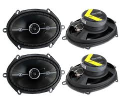 speakers with bass. kicker 41dsc684 d-series 6x8-400 watt 2-way 4-ohm speakers with bass r
