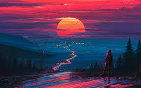 Sunset Macbook Wallpaper 4k