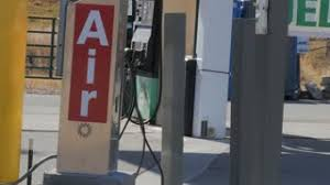 gas station with air pump. air pump at gas station with