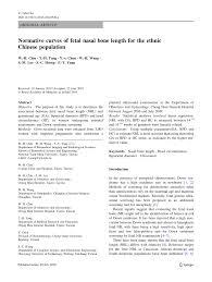 Fetal Nasal Bone Length Chart Pdf Normative Curves Of Fetal Nasal Bone Length For The